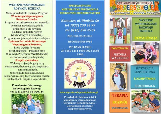 Specjalistyczne Niepubliczne Przedszkole Edukacyjno – Rehabilitacyjne w Katowicach