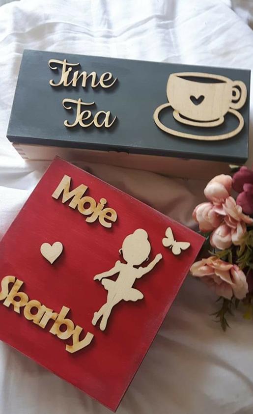 Artystyczne pudełka na drobiazgi, zabawki, biżuterię
