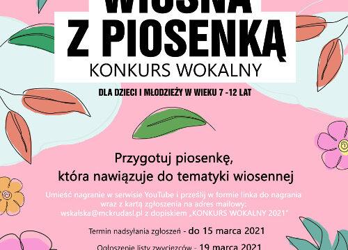 WIOSNA Z PIOSENKĄ – konkurs wokalny dla dzieci i młodzieży